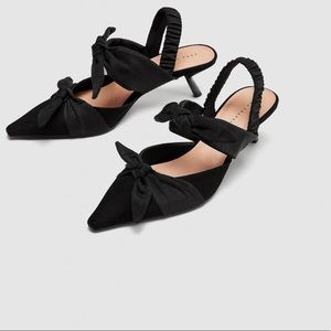🌷NWT knotted sling back shoes